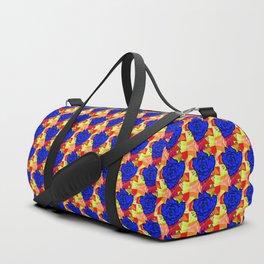 Abstract Rose - Royal Blue Duffle Bag