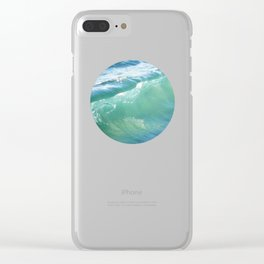 Teal Surf Clear iPhone Case