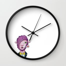 Pink lama Wall Clock