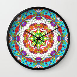 Drawing Floral Doodle G5B Wall Clock