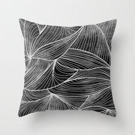 Rifts Black & White Throw Pillow