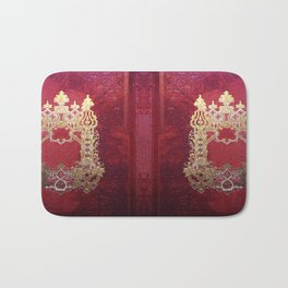 Ink Stained Crimson Book Bath Mat