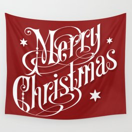 Merry Christmas and Happy New Year Wall Tapestry
