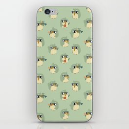 Adorable Green Penguin Pattern iPhone Skin