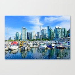 Vancouver Marina Canvas Print