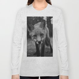 The Fox (Black and White) Long Sleeve T-shirt