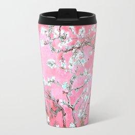 Van Gogh Almond Blossoms : Pink & Aqua Travel Mug
