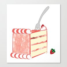 Creative Strawberry Shortcake Canvas Print
