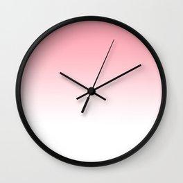 Pink Sunset Gradient Wall Clock