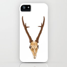 Skull of roe deer iPhone Case