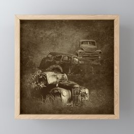 Cars in the jungle Framed Mini Art Print