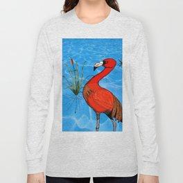 Flamingo Strut Long Sleeve T-shirt