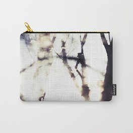 Blurry Trees Carry-All Pouch