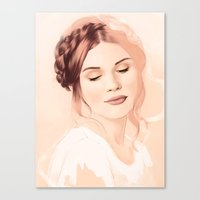 lydia martin Canvas Prints featuring Lydia Martin by Llama Escapes