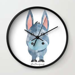 Water Colour Baby Donkey Wall Clock