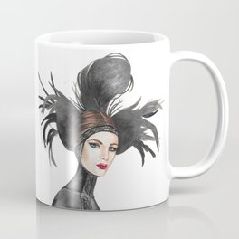 Black Feathers Coffee Mug