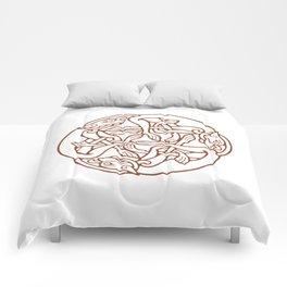St. Patrick's Day Celtic Red Mandala #4 Comforters