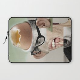 """""""a yawn is a silent shout"""" Laptop Sleeve"""