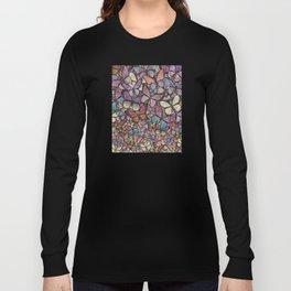 butterflies aflutter rosy pastels version Long Sleeve T-shirt