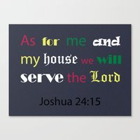 bible Canvas Prints featuring Bible verse by cmphotography