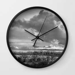 Towering Clouds Over Wiltshire Wall Clock