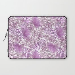 Pastel lilac pink watercolor tropical palm tree leaves Laptop Sleeve
