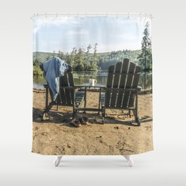 Adirondack Chairs Shower Curtain