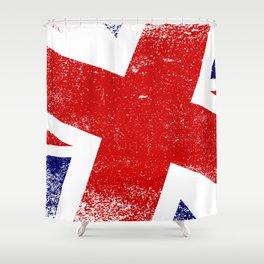 Union Jack Close Up Shower Curtain