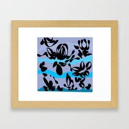 stroke of rose brush on a hillside Framed Art Print