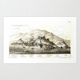 Die mittelalterlichen Baudenkmale der Stadt Friesach in Kärnthen Art Print