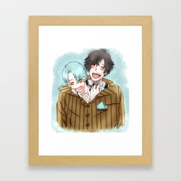 Mystic Messenger - Chibi Jumin and V Framed Art Print