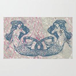 Double Mermaids Rug