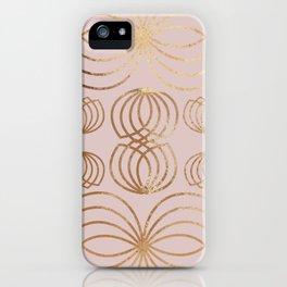 Honey Bee rose gold iPhone Case