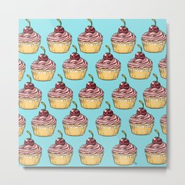 Cupcakes Party Metal Print