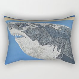 Fool Like You For Breakfast- Great White Shark Rectangular Pillow