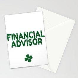 Luckiest Financial Advisor Ever St. Patricks Day Lucky Irish Stationery Cards