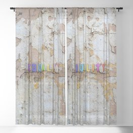 Equality Paint Sheer Curtain