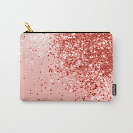 Sparkling Living Coral Lady Glitter #1 #shiny #decor #art #society6 Carry-All Pouch