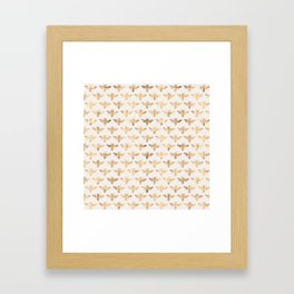 Honey Bees (Sand) Framed Art Print