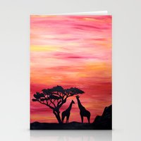 africa Stationery Cards featuring Africa by Monica Georg-Buller