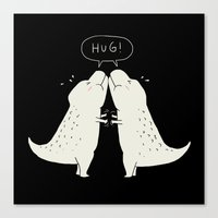 hug Canvas Prints featuring Hug by I Love Doodle