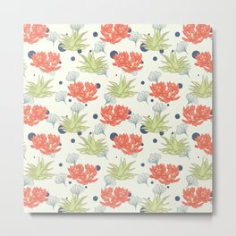 Succulent Pattern. no1 Metal Print
