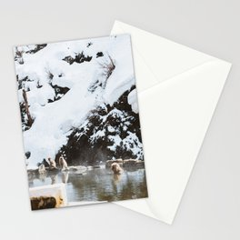 Bath Time in the Hot Springs Stationery Cards