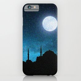 Istanbul, Hagia Sophia and Blue Mosque; Starry Night iPhone Case