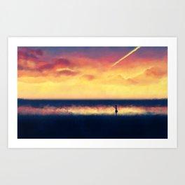 Sunset walk Art Print