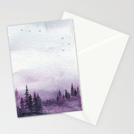 Purple Forest Dream Stationery Cards