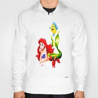 little mermaid Hoodies featuring LITTLE MERMAID by HaMaD ArT