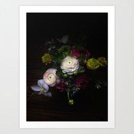 Still life with Ranunculus Art Print