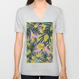 Summer Lemon Twist Jungle #6 #tropical #decor #art #society6 Unisex V-Neck