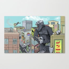 Rocket Boy vs Death Gorilla Canvas Print